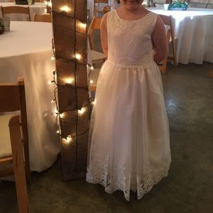 Just Another Angel White Flower Girl Dress